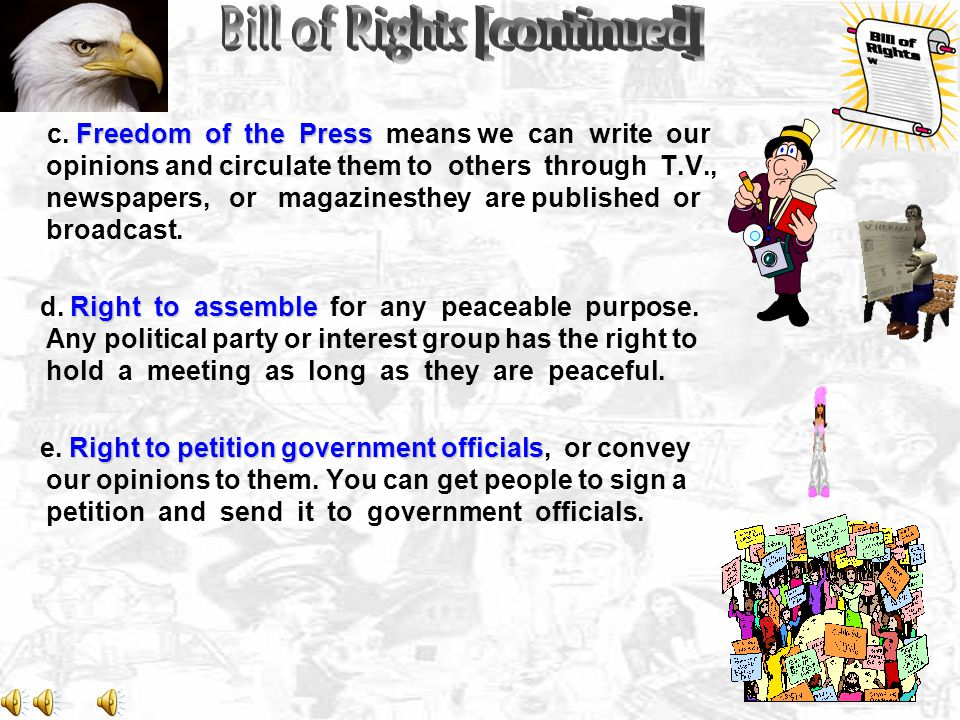 Bill of Rights [continued]